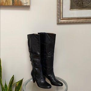 Nine West Leather Boot Sz 6.5 Fashionable Edge New